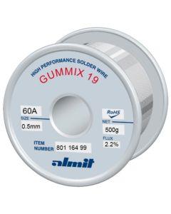 Almit 80113499. Lötdraht bleihaltig, Gummix-19, 1,0 mm, 1.000 g