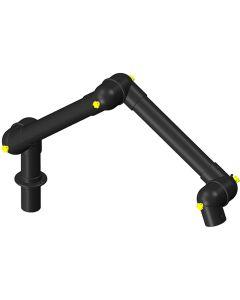 Alsident 100-6555-1-6. ESD-Absaugarm DN100 1370 mm, schwarz, Tischmontage, schwarz, 3