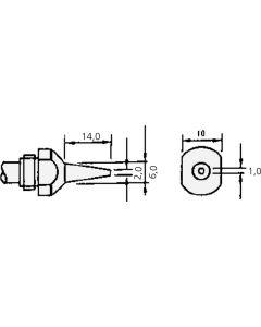 DIC 4 SC 0001 E; 50-01-16. 4 SC 0001 E - Entlötdüse für SC-7000Z 1,0 mm