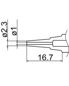Hakko N3-L10. Soldering tip Nozzle Size Φ1.0(Long)