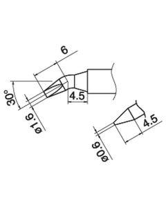 Hakko T15-JD16. Soldering tip Shape-1.6JD