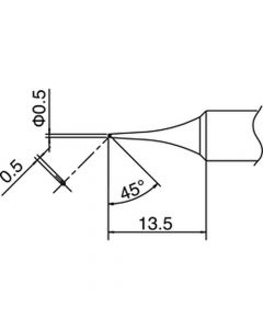 Hakko T18-C05. Soldering tip Shape-0.5C