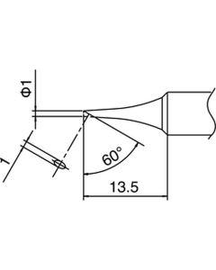 Hakko T18-C1. Soldering tip Shape-1C