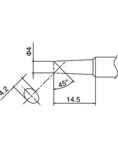 Hakko T18-C4. Soldering tip Shape-4C