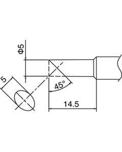 Hakko T18-C5. Soldering tip Shape-5C