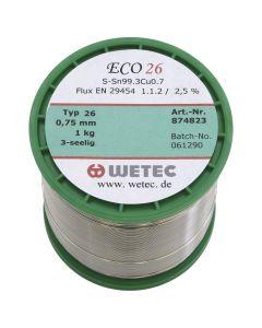 WTC WE-734183. Lötdraht bleifrei, Silver 34, 0,3 mm, 100 g
